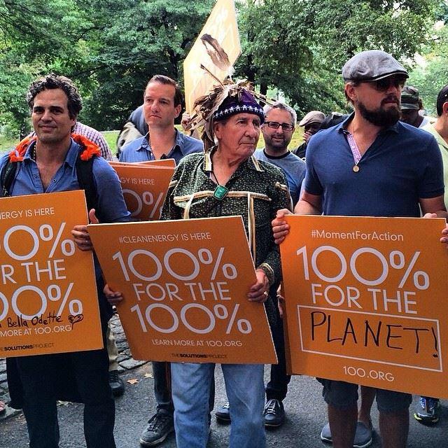 国連の平和メッセンジャー大使をつとめる俳優のレオナルド・ディカプリオ氏も参加。