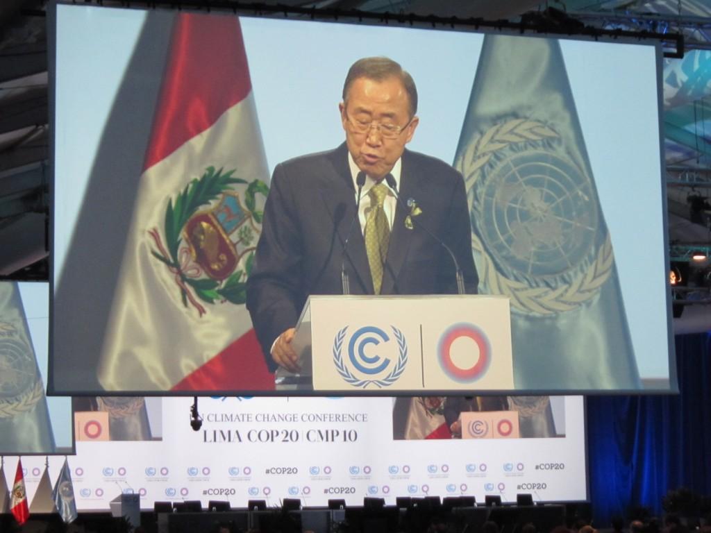 潘基文・国連事務総長もペルー入りし、スピーチを行う