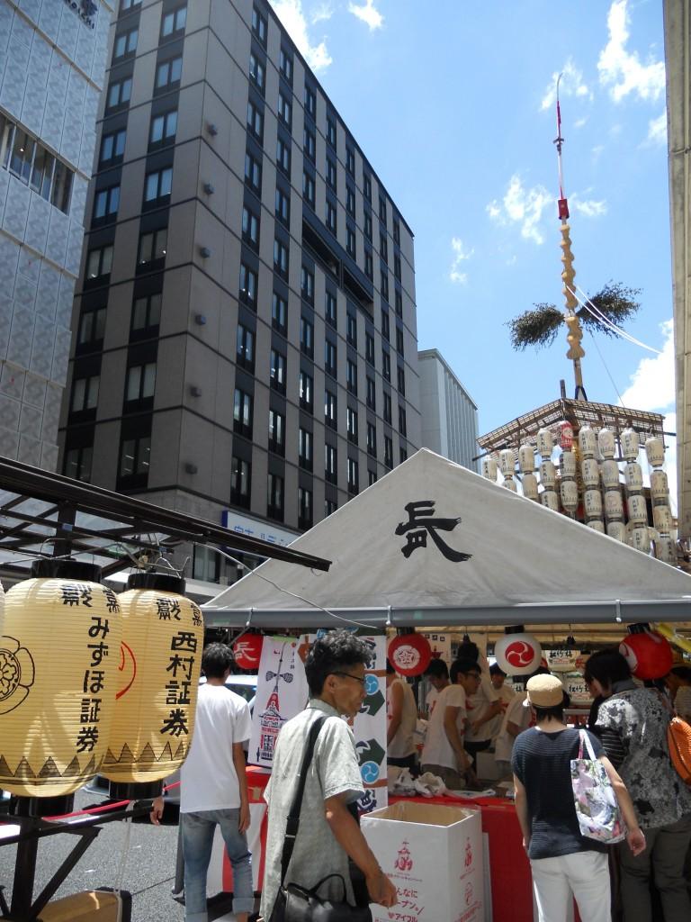 7月14日・長刀鉾のようす