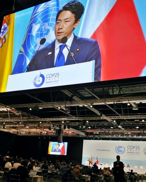 小泉環境大臣、日本への石炭批判を認めるも、具体的な方針転換を示せず(撮影:伊与田)