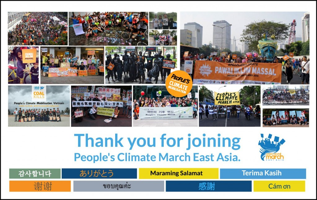 People's Climate March - East Asia
